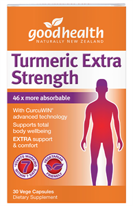 Buy Turmeric Extra Strength  30's for $10 when you buy any Good Health Product